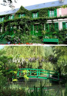 Claude Monet's House converted museum - Giverny, France - You get to see his paintings come to life where Monet used his home garden as his muse and outdoor landscape subjects.