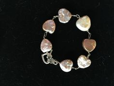 Pink Pearl Heart Bracelet - pinned by pin4etsy.com