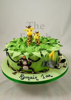 Cake with animals