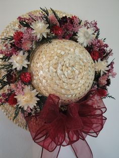 Dried Flower Straw Hat