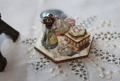 NEW Dollhouse Miniature Ladies Toiletry Tray Pinks by laurelwil, $24.99