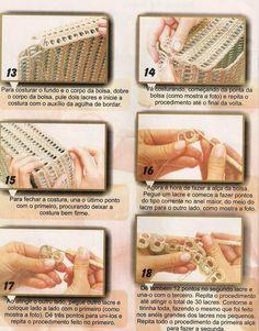 Voici un joli modèle de sac cabas au crochet ( trouvé sur facebook) fait à partir des languettes des canettes , avec son pas à pas en images ... Et voici le pas à pas pour réaliser ce joli sac cabas mélange de crochet et recyclage... Bon crochet ...