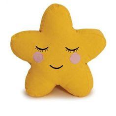 kussen ster in geel