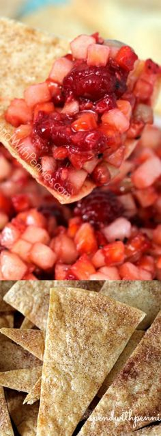This Fruit Salsa with Cinnamon Crisps recipe from Spend with Pennies makes the perfect appetizer, snack, dessert or sweet treat for your family!
