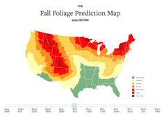 This Interactive Map Predicts Peak Fall Foliage Times in Your Area (Lifehacker) I Think Map, Fall Foliage Map, Autumn Leaf Color, World History Lessons, Smoky Mountain National Park, Interactive Map, Fall Photos, Diy Photo, Fall Wedding