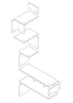 Overzichtstekening - Hoekkast van underlayment