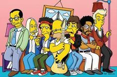 Elvis Costello, Tom Petty, Keith Richards, Mick Jagger, Lenny Kravitz e Brian Setzer & #Simpsons'