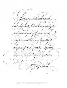 John Stevens Calligraphy Design: A page I did in 1990. You can see my ruled lines. I did this with a brause 66ef. I don't think they are of the same quality today. I like the Nikko nibs, but they don't seem good for this smaller writing. I would love to hear what you think is the best nib out there- all you pointed pen people. Thanks.