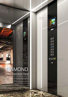 طرح دیاموند Diamond - پنل آسانسور مدیا Media