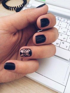Both long nails and short nails can be fashionable and beautiful by artists. Short coffin nail art designs are something you must choose to try. They are one of the most popular nail art designs. Popular Nail Designs, Diy Nail Designs, Halloween Nail Designs, Halloween Nails, Diy Nails, Cute Nails, Pretty Nails, Black Nail Art, Black Nails