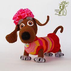 Tabby Lady dog by Elena Pichugina