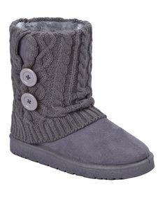 Gray Button GG Boot #zulily #zulilyfinds