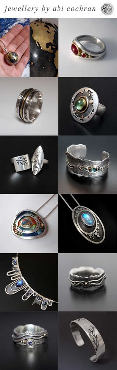 Silverwork by Abi Cochran. Top 12 designs of 2013. Please like/share your favourite on facebook - https://www.facebook.com/silverspirals.co.uk: