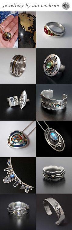 Silverwork by Abi Cochran. Top 12 designs of 2013. Please like/share your favourite on facebook - https://www.facebook.com/silverspirals.co.uk: