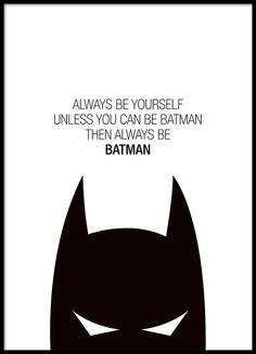 Poster à texte avec Batman