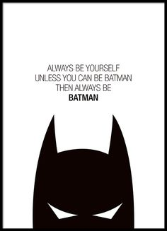 Poster with a Batman motif. Cute for a kids room.