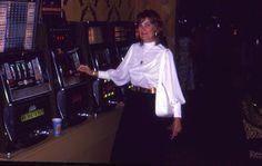 35mm Slide Ballys Casino Slot Machines Color Original Woman 1960s or 1970s