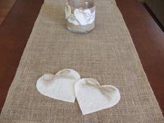 Burlap table runner rustic wedding table decor by DaniellesCorner, $21.00