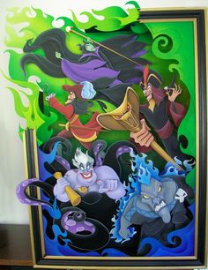 Disney Villain 3-D painting.. and it includes 3 of my favorites (Ursula, Malificent, and Hades)