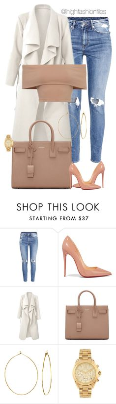 """""""Untitled #2569"""" by highfashionfiles ❤ liked on Polyvore featuring H&M, Christian Louboutin, Yves Saint Laurent, Phyllis + Rosie and Michael Kors"""