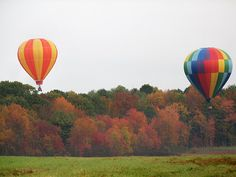 Hot Air Balloon Ride in the Adirondacks in the fall.