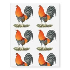 Gamecock Blue Red Rooster Temporary Tattoos #newyear #tattoos