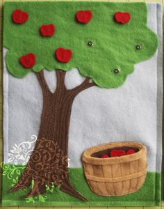 Apple tree quiet book page