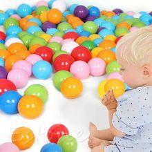 7 СМ Экологичный Красочные Ball Мягкие Пластиковые Океан Бал Смешные Детские малыша Плавать Яма Игрушки Воды Бассейн Ocean Wave Шаровые 100 ШТ. A17795(China (Mainland))