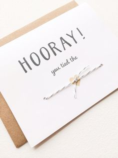 Wedding congratulations card. You tied the knot by PrintSmitten, $4.50