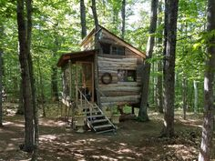 Tree House at the Shire - Treehouses for Rent in Conway, New Hampshire, United States Little Cabin, Little Houses, Passive Solar Homes, Permanent Vacation, Sustainable Architecture, Residential Architecture, Contemporary Architecture, Screened In Porch, Green Building