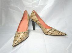Joan & David Leather Snake Print Classic Pumps Size US 8.5 M #JoanDavid #PumpsClassics #Everyday
