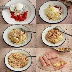 Canelones-frios-de-verano-receta Canapes, Empanadas, Sin Gluten, Easy Peasy, Healthy Snacks, Low Carb, Keto, Pasta, Cooking