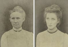 "Photographer Christine McConnell not only imagined what she would look like as one her own ancestors, but she became them. McConnell created a series titled ""7 Generations of American Women,"" replicating portraits of her maternal blood line, dating back 200 years.   with Great-great grandmother, Jane — born 1858  http://hellogiggles.com/artist-replicated-photos-7-generations-women-family-stunning"