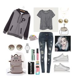 """Grey vibe #pusheen"" by nominjiguur on Polyvore featuring Pusheen, Abercrombie & Fitch, Prada Sport, Prada, Chanel, Topshop, Too Faced Cosmetics, contestentry and PVxPusheen"