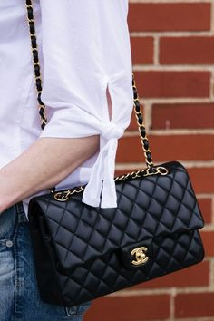 Chanel Reissue 225 Double Flap Bag in Black Burberry Handbags, Chanel Handbags, Fashion Handbags, Purses And Handbags, Fashion Bags, Chanel Bags, Black Chanel Purse, Chanel Woc, Handbags Online
