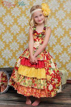 Penelope's Princess Ruffle Dress PDF Pattern sizes 6-12 months to 8