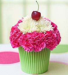 Cupcake in Bloom® - a cupcake bouquet like this would be cute