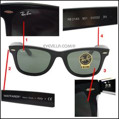 knockoff ray bans wayfarer  Spotting fake Ray Ban Sunglasses from original Ray Ban Sunglasses ...
