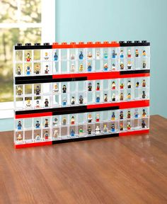 Exhibit, carry and store your collection in this Lego Minifigure Display Case. Each figure gets its own compartment. A removable base in each compartment enables the minifigure to Lego Display Case, Lego Minifigure Display, Display Cases, Decorative Storage Bins, Lego Storage, Lego Vitrine, Legos, Lego Wall, Bedrooms