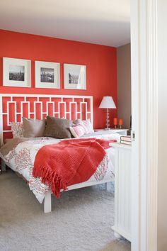 Geometric red bedroom design, bedroom red, dream bedroom, home bedroom, bedroom decor Red Bedroom Design, Bedroom Red, Dream Bedroom, Home Bedroom, Modern Bedroom, Bedroom Wall, Bedroom Decor, Girls Bedroom, Master Bedroom