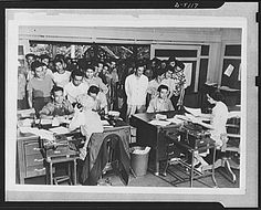 (Photo, Japanese enlistment..., Mar. 1943, U.S. Office of War Information, Library of Congress, http://hdl.loc.gov/loc.pnp/fsa.8b06141) Though many Japanese American men answered the draft in World War II (such as the men in this image), others resisted, protesting the internment camps their families had been sent to. Click to read our review of the PBS site Conscience and the Constitution, about these resisters.