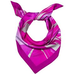 Madison Knight - Magenta Arden Silk Scarf ($120) ❤ liked on Polyvore featuring accessories, scarves, silk shawl, silk scarves, print scarves, pure silk scarves and patterned scarves