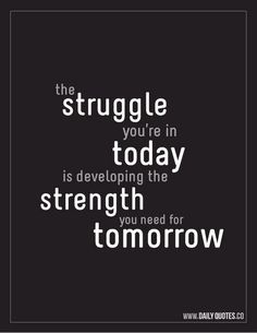 Strength for tomorrow.