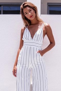 237853c7d18 Hot offer New Fashion Women Ladies Clubwear V Neck Striped Playsuit Loose Party  Jumpsuit Trousers Women Sexy Clothes