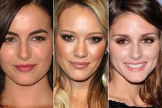 Inpire-se nos looks de Camilla Belle, com sombra cintilante; no de Hilary Duff e Olivia Palermo com sombra marrom