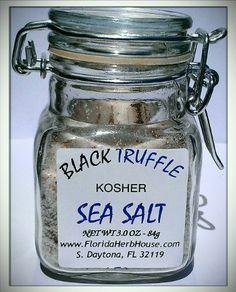 Casina Rossa Truffle and Salt by Nicola de Laurentiis - oz. Black Truffle, Spice Grinder, Active Ingredient, Sea Salt, Truffles, Eco Friendly, Mason Jars, Spices