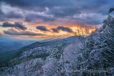 I went up for sunset tonight and found a little bit of snow clinging to the trees. It was beautiful. I love Winter and a good snow, but this should have been a month ago. I am ready for Spring now.  March 14, 2017 Foothills Parkway Great Smoky Mountains