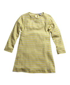 Take a look at this Yellow & Soft Gray Stripe Tunic - Infant, Toddler & Girls by Gypsy Kids on #zulily today!
