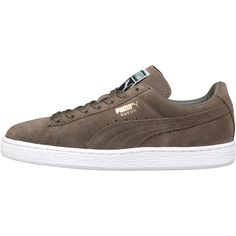 Puma Mens Suede Classic Trainers Burnt Olive/White Burnt Olive