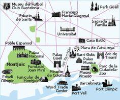 barcelona barcelona tourist mapbarcelona